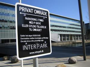 Interpark skilt